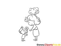 Mutter und Sohn Bilder, Malvorlagen, Grafiken zum Drucken und Ausmalen