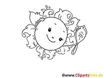 Nette Sonne Malvorlage kostenlos