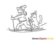 Ski fahren Malvorlagen kostenlos