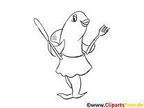 Thunfisch Bild zum Ausmalen