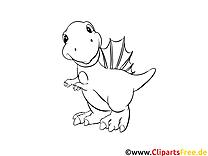 Dinosaurier - Ausmalbilder für Kinder