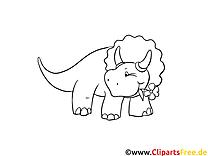 Dinosaurier - Wandschablonen zum Ausdrucken