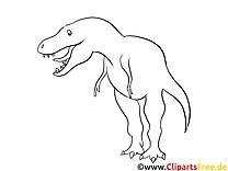 Rex Dinosaurier Bild zum Ausmalen