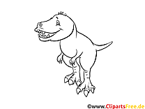 Tyrannosaurus Rex  Bild zum Ausmalen