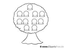 Bild Stammbaum zum Drucken und Malen