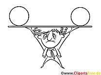 Mann im Zirkus Ausmalbild zum Ausdrucken, Bild gratis
