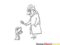 Brief Detektiv Grafik, Bild, Pic, Image, Clip Art