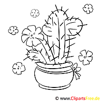 Cactus Coloring Page free