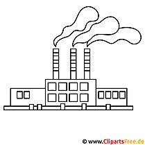 Fabrik Bild zum Ausmalen