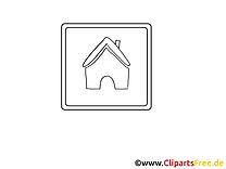 Haus Icon Bild zum Malen