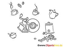 Kaffee Zeit Malvorlagen Bilder