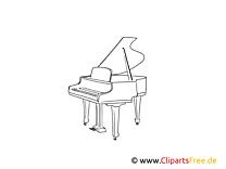 Klavier, Flügel Ausmalbild - Kostenlose Bilder herunterladen