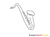 Saxophon, Saxofon Bild, Malvorlage