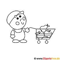 Shopping Bild zum Ausmalen