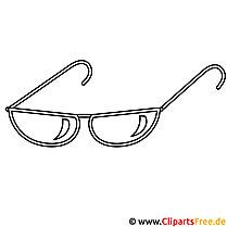 Sonnenbrille Bild zum Ausmalen