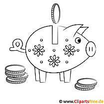 Sparschwein Bild zum Ausmalen
