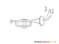 Trompete Malvorlage kostenlos