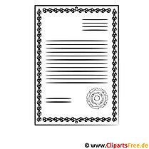 Urkunde zum Ausdrucken