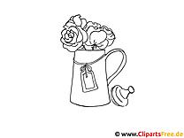 Vase mit Blumenstrauss