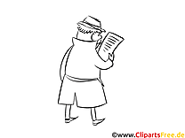 Zeitung Detektiv lustige Malvorlagen zum Thema Beruf