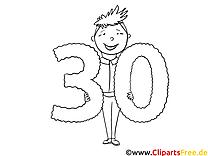 30 Jahre Mann Malvorlage zum Geburtstag
