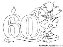60 Jahre Geburtstag Ausmalbild kostenlos