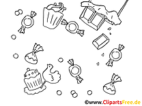 Candy Free Coloring Pages