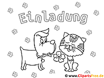 Dog and Cat Coloring Sheet for free