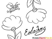 Einfache Malvorlagen für kleine Kinder Blumen
