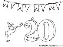 Einladung zum 20. Geburtstagsparty selbst gestalten