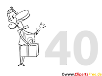 Einladung zum 40. Geburtstag selbst gestalten