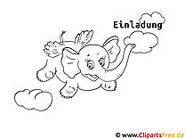 Fliegender Elefant Malvorlage