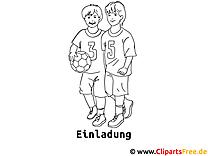 Fussball Malvorlage zum Drucken