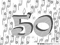 Malvorlage 50 Jahre