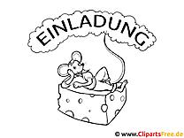 Maus und Käse Malvorlage
