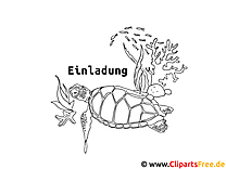 Schildkröte Malvorlage zum Drucken und Malen