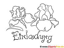 Schöne Blumen Malvorlage zum Drucken und Malen
