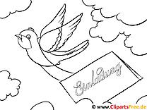 Vogel Ausmalbild  zum Ausmalen