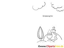 Wolken Hügel Einladungen selbst gestalten und drucken