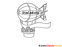 Zeppelin Malvorlage