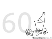Zum 60 Geburtstag Malvorlage