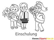 Malbilder zum Ausdrucken Kinder in der Schule