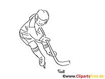 Ausmalbild Eishockeyspieler