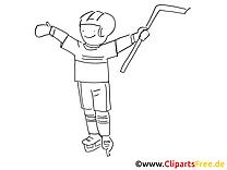 Einfache Malvorlage Eishockey
