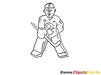Eishockeytorwart Malvorlage Winter-Sport