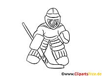 Gratis Malvorlagen zum Ausdrucken Winter, Sport, Eishockey