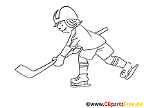 Hockey Malvorlage Winter-Sport