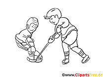 Ice Hockey Coloring Sheet free