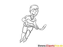 Malvorlage Eishockeyspieler