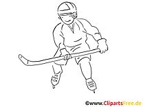 Spieler Eishockey Malvorlage Wintersport